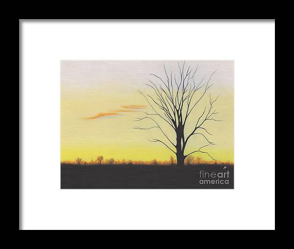 Landscape Framed Print featuring the painting Calming by Scott Alberts