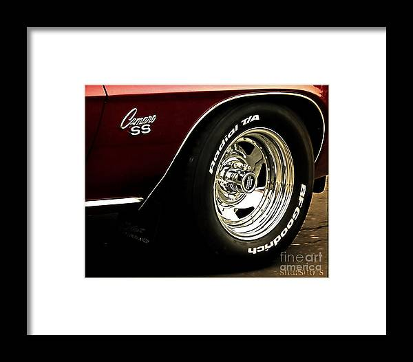Classic Framed Print featuring the photograph Camaro by Emily Kelley