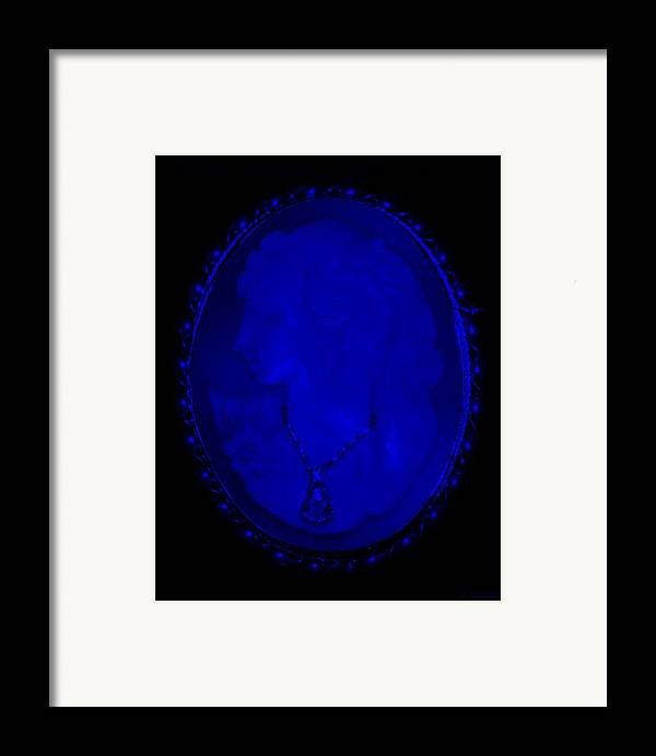 Cameo Framed Print featuring the photograph Cameo In Blue by Rob Hans