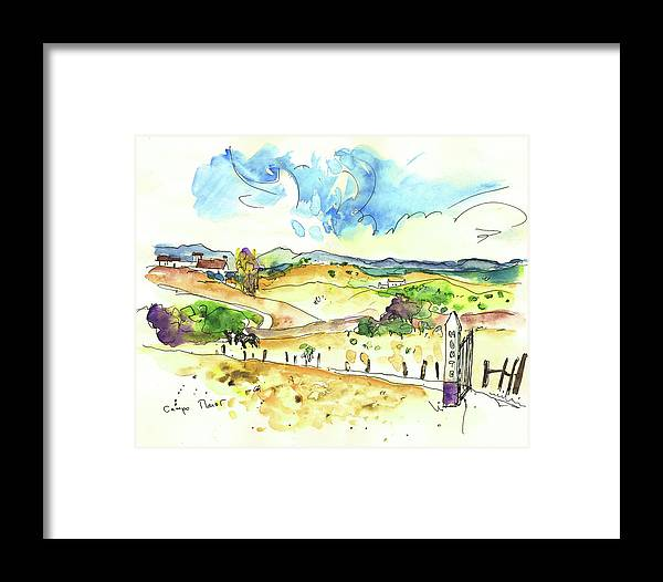 Portugal Framed Print featuring the painting Campo Maior In Portugal 01 by Miki De Goodaboom