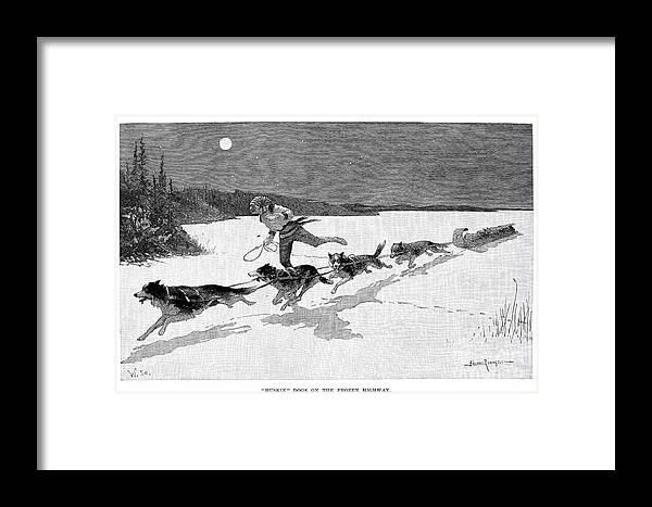 1892 Framed Print featuring the photograph Canada: Fur Trade, 1892 by Granger
