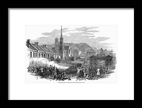1853 Framed Print featuring the photograph Canada: Gavazzi Riot, 1853 by Granger