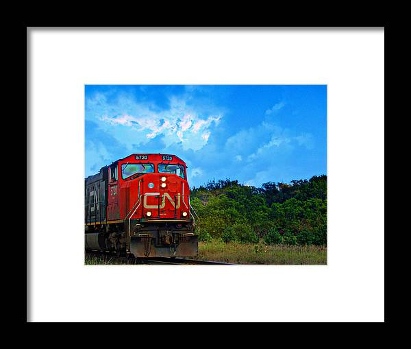 Canadian Framed Print featuring the photograph Canadian Northern Railway Train by Ms Judi