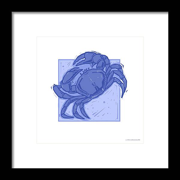 The Crab Framed Print featuring the photograph Cancer by Detlev Van Ravenswaay