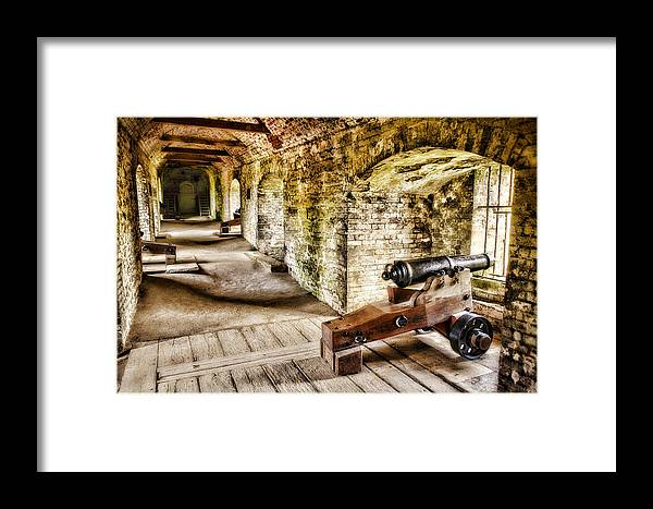 Dover Castle Framed Print featuring the photograph Cannons Of Dover by Wendy White