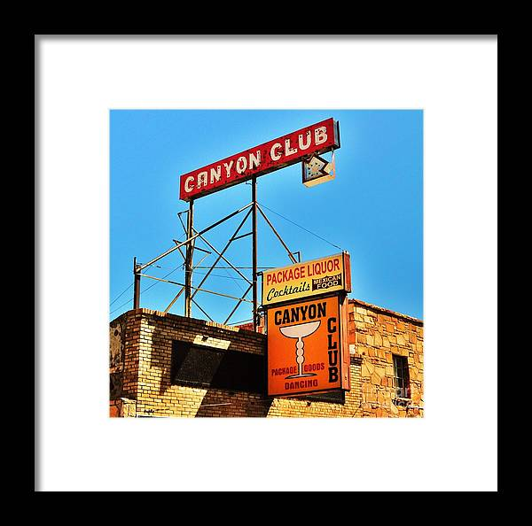 Williams Framed Print featuring the photograph Canyon Club Route 66 Williams Arizona by George Sylvia