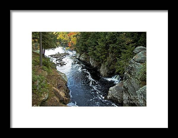 Fall Framed Print featuring the photograph Canyon Light by Brenda Giasson