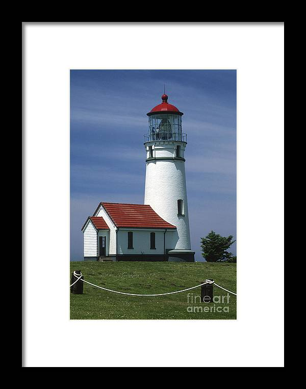 Bronstein Framed Print featuring the photograph Cape Blanco Lighthouse by Sandra Bronstein