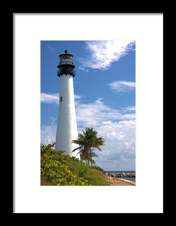 Beacon Framed Print featuring the photograph Cape Florida Lighthouse by Rudy Umans