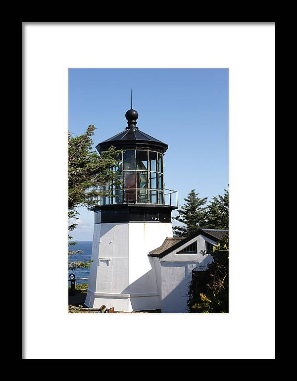Oregon Framed Print featuring the photograph Cape Mears Or Lighthouse 1 by Tony and Kristi Middleton