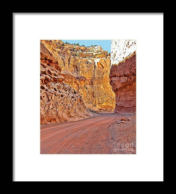 Capitol Gorge Framed Print featuring the photograph Capitol Gorge Trail At Capitol Reef by Jack Schultz