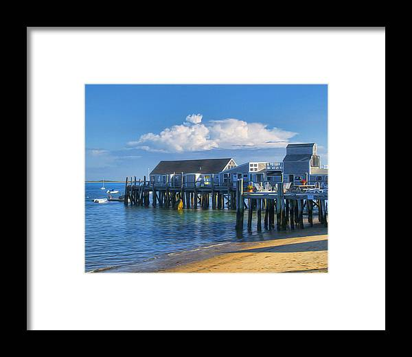 Captain Jack\\\'s Framed Print featuring the photograph Captain Jack's Wharf by Tammy Wetzel