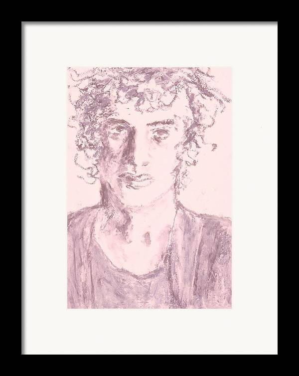 Fine Art Framed Print featuring the drawing Captive by Iris Gill