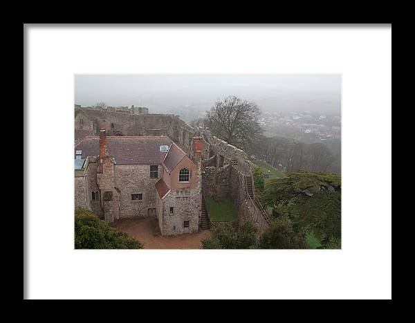 Castle Framed Print featuring the photograph Carisbrook Castle by Shirley Mitchell