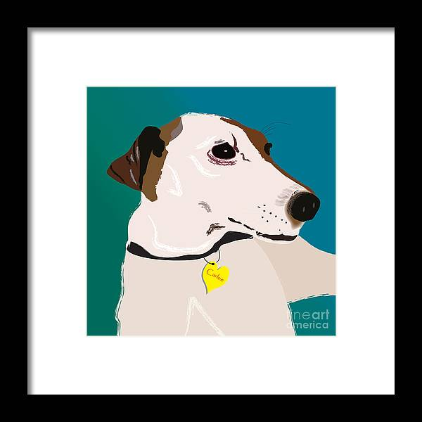 Framed Print featuring the digital art Carlee by Cheryl Snyder