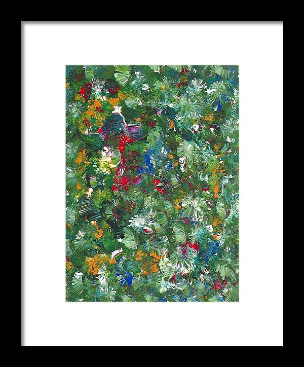 Floral Framed Print featuring the painting Carmen by Rhetta Hughes