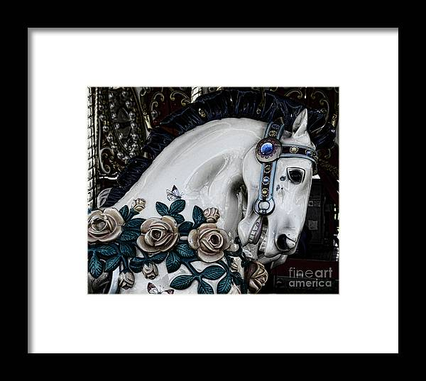 Dark Horse Framed Print featuring the photograph Carousel Horse - 8 by Paul Ward