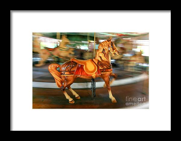 Carousel Framed Print featuring the photograph Carousel Horse by Ken Marsh
