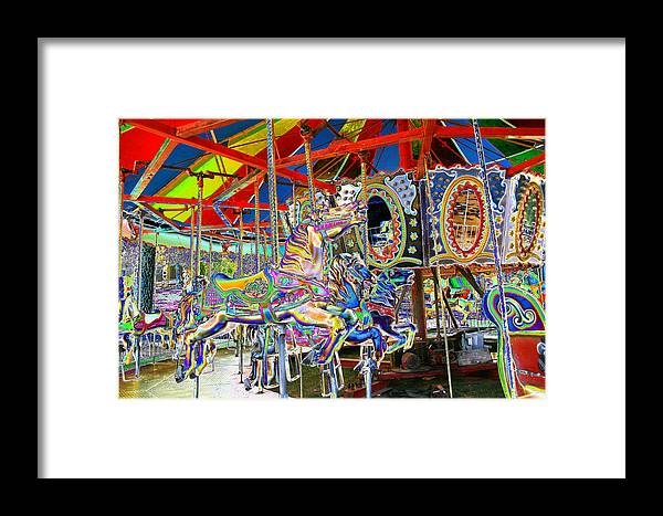 Merry Framed Print featuring the photograph Carousel by Nina Fosdick