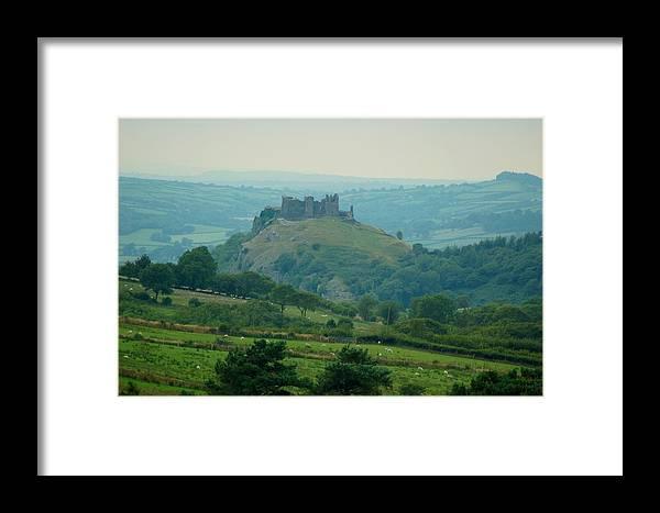 Framed Print featuring the photograph Carreg Cennen Castle by Tam Ryan