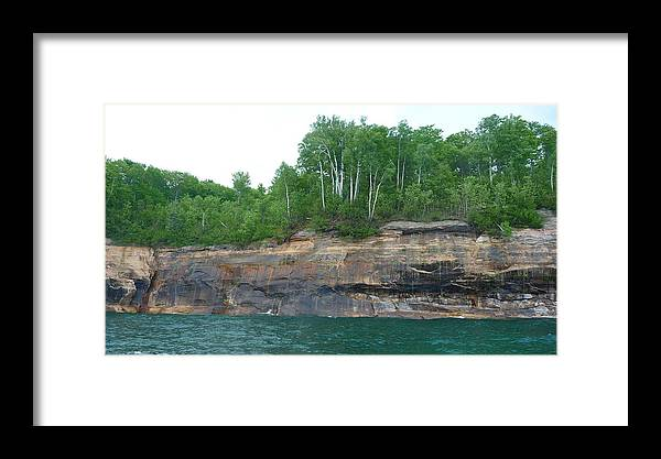 Pictured Rocks Framed Print featuring the photograph Carved Brilliance by Michael Carrothers