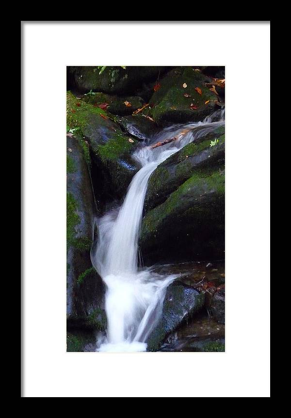 Waterfall Framed Print featuring the photograph Cascading Angel Hair by Michael Carrothers