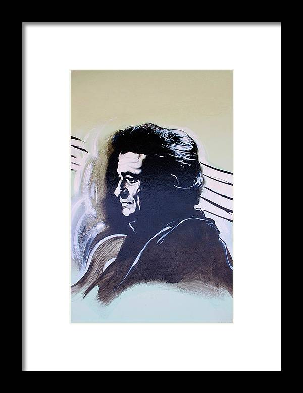 Johnny Cash Framed Print featuring the photograph Cash by Rob Hans
