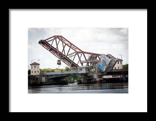 Bridge Framed Print featuring the photograph Cass St. Bridge Tampa by Herman Boodoo