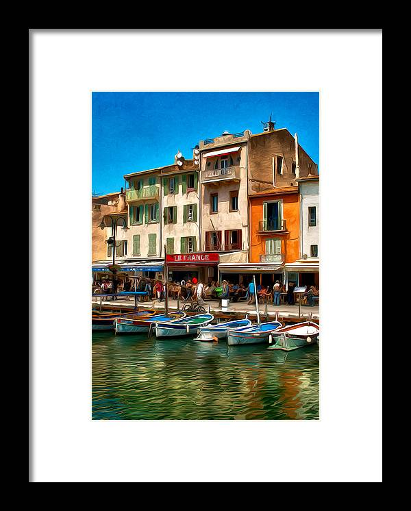 France Framed Print featuring the photograph Cassis France by Jim Painter