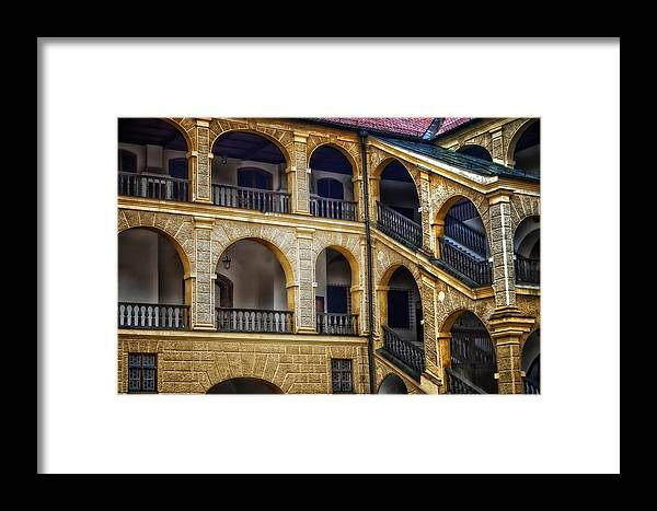 Brick Framed Print featuring the photograph Castle Courtyard by Mary Lane