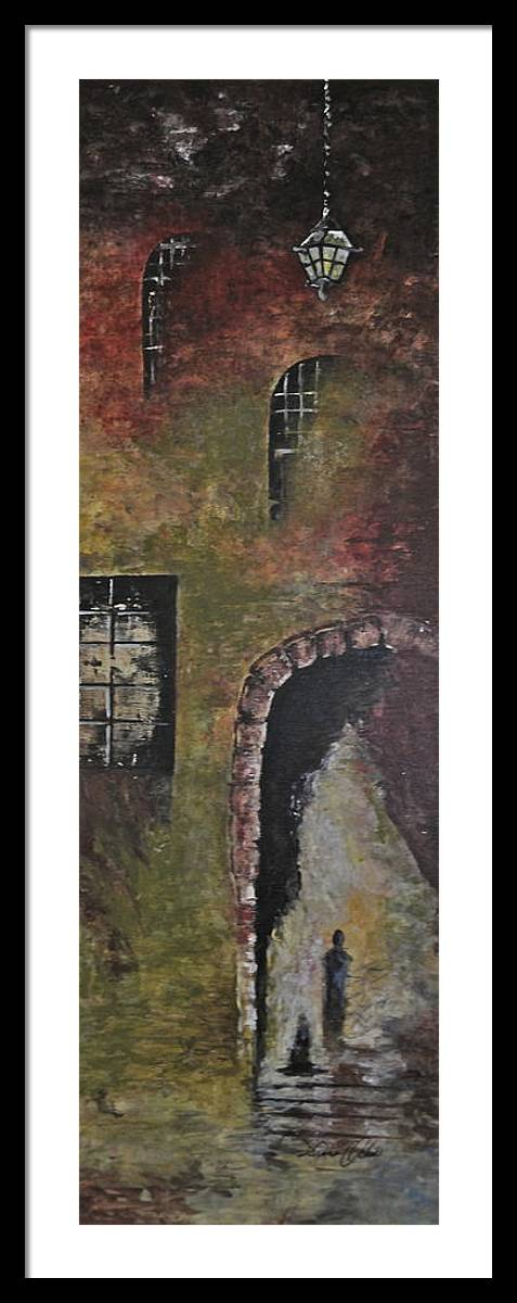 Castle Framed Print featuring the painting Castle Entrance by Diana Ochoa
