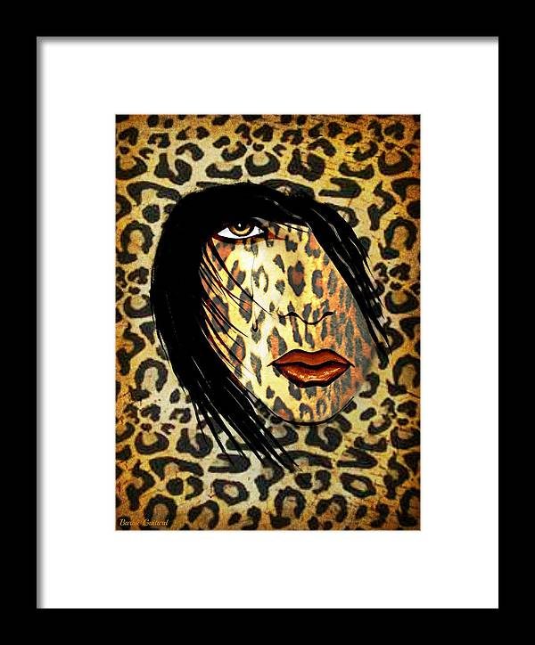 Cat Woman Framed Print featuring the painting Cat Woman by Barbie Guitard