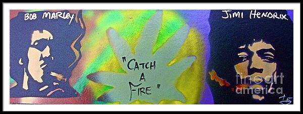 Hip Hop Framed Print featuring the painting Catch A Fire by Tony B Conscious