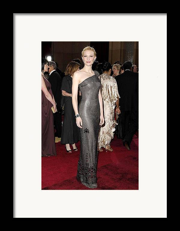 Oscars 79th Annual Academy Awards - Arrivals Framed Print featuring the photograph Cate Blanchett Wearing Armani Prive by Everett