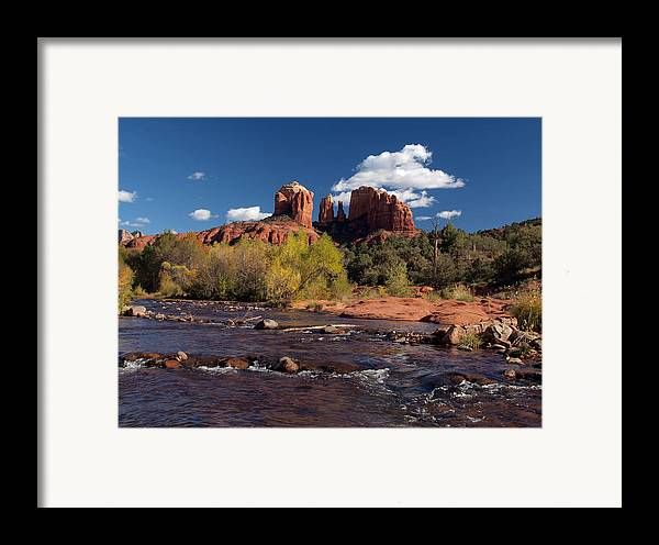 Cathedral Rock Framed Print featuring the photograph Cathedral Rock Sedona by Joshua House