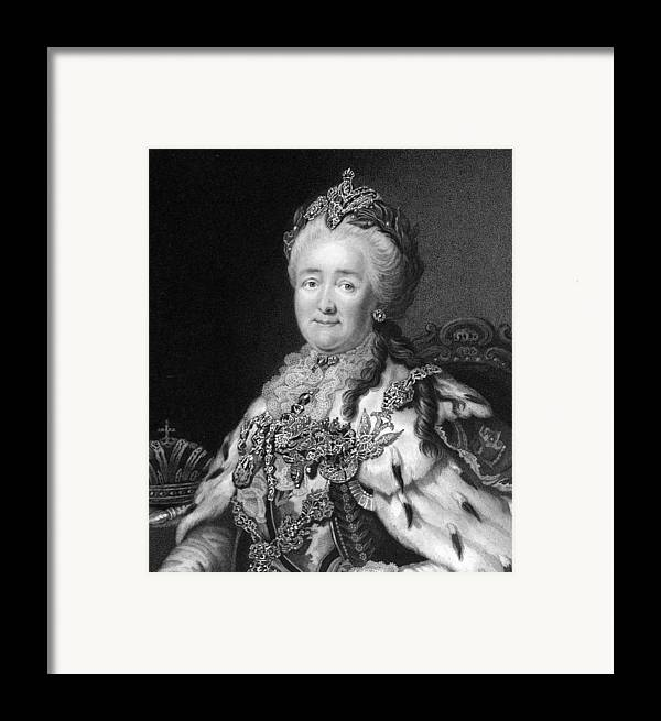 1700s Framed Print featuring the photograph Catherine The Great, Empress Of Russia by Middle Temple Library