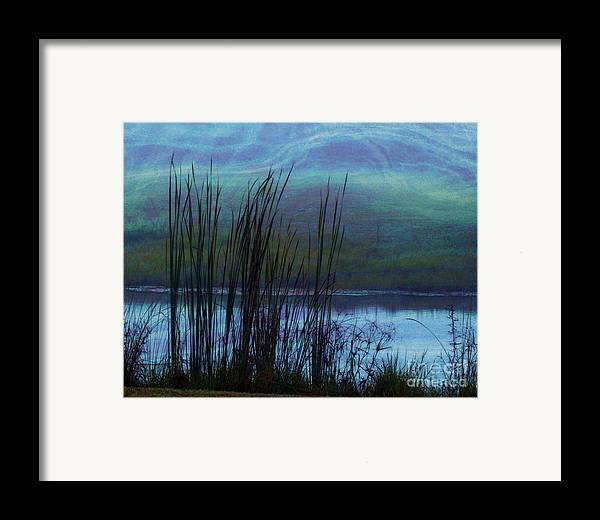 Cattails Framed Print featuring the photograph Cattails In Mist by Judi Bagwell