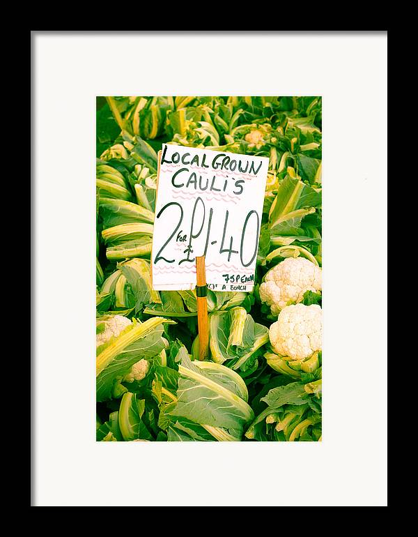 Abundance Framed Print featuring the photograph Cauliflower by Tom Gowanlock