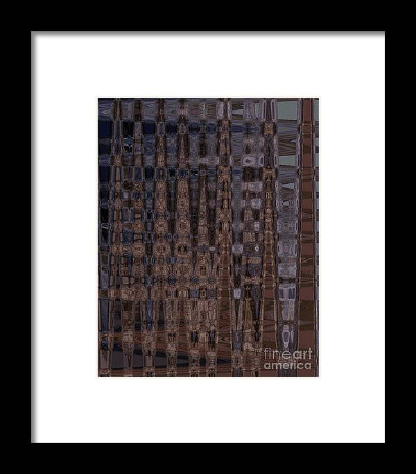 Abstract Framed Print featuring the photograph Cave Abstract 3 by Tashia Peterman