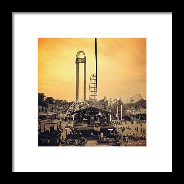Cedarpoint Framed Print featuring the photograph #cedarpoint #ohio #ohiogram #amazing by Pete Michaud