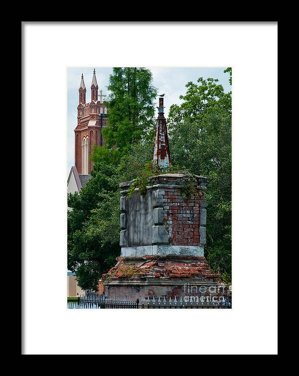 Cemetery Framed Print featuring the photograph Cemetery Spires by Kathleen K Parker