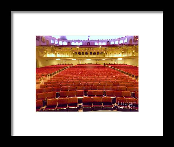 Framed Print featuring the photograph Center Stage Orpheum by Vicki Lomay