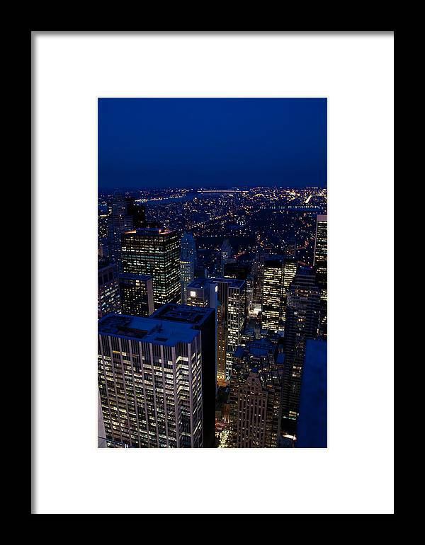 New York Framed Print featuring the photograph Central Park At Night by Heidi Reyher