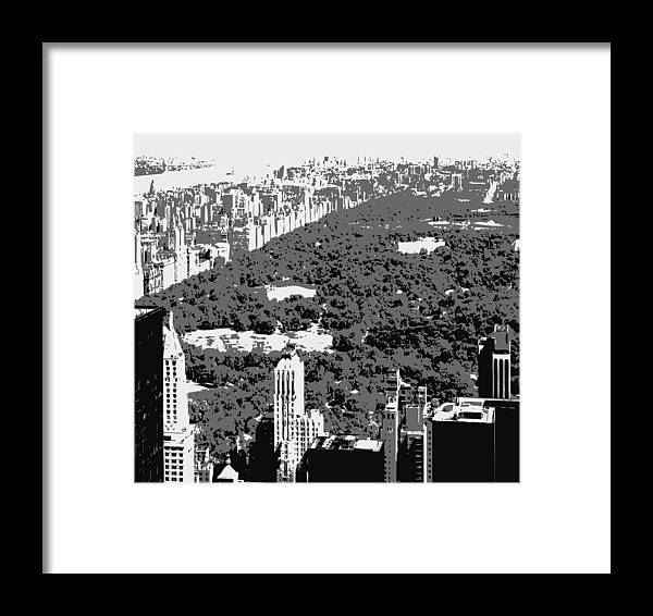 Central Park Framed Print featuring the photograph Central Park Bw3 by Scott Kelley