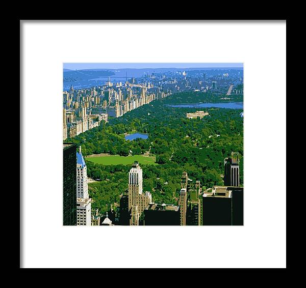 Central Park Framed Print featuring the photograph Central Park Color 16 by Scott Kelley