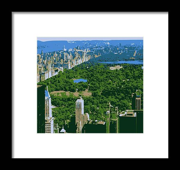 Central Park Framed Print featuring the photograph Central Park Color 6 by Scott Kelley