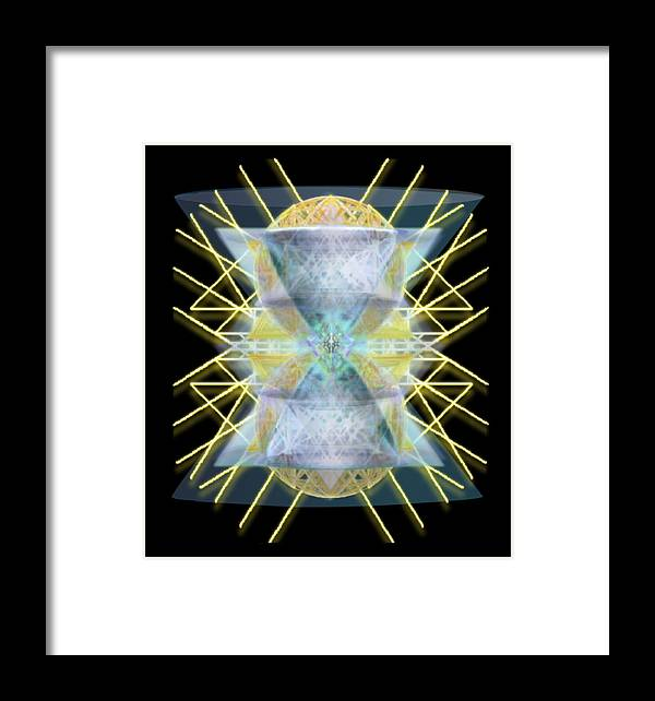 Chalices Framed Print featuring the digital art Chalices From Pi Sphere Goldenray II by Christopher Pringer