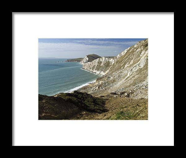 Clay Framed Print featuring the photograph Chalk Cliffs, Dorset by Adrian Bicker