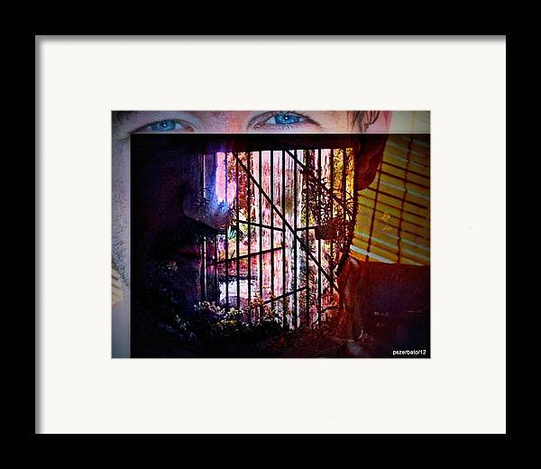 Challenge Framed Print featuring the digital art Challenge Enigmatic Imprison Himself by Paulo Zerbato