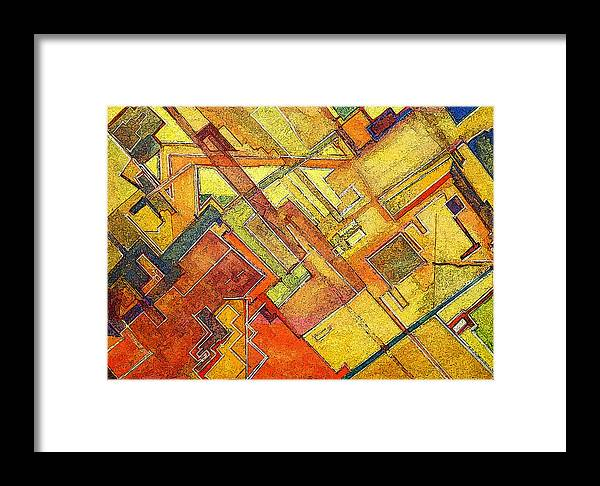 Abstract Framed Print featuring the painting Chaos 80 by James Raynor